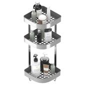 БРОГРУНД Настенный полочный модуль, угловой, нержавеющая сталь от Икеа | BROGRUND Corner wall shelf unit, stainless steel by Ikea