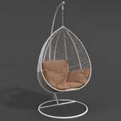 Chair suspended Gusto White