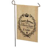 Paris Crest Garden Flag