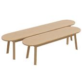 Triangle leg bench
