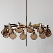 Hans-Agne Jakobsson - A brass Twelve-Light Ceiling Lamp