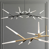 Contemporary Multi Tube LED Chandelier