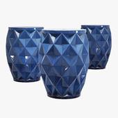Wrought studio marita ceramic garden stool