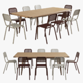 Scavolini-diesel open workshop table+moroso nizza chair