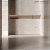 Cream marble tiles