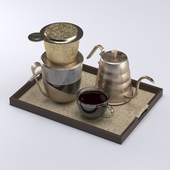 Drip coffee set