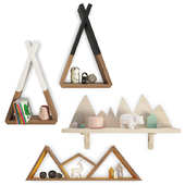 Trendy Teepee Shelves Kids