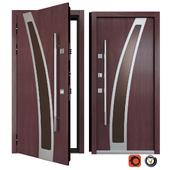 Entrance metal door Inox S-14 (Your Frame)