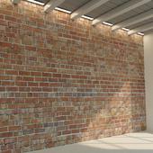Brick wall. Old brick. 74