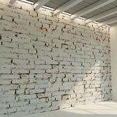Brick wall. Old brick. 76