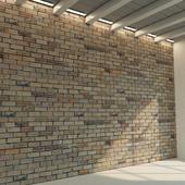 Brick wall. Old brick. 77