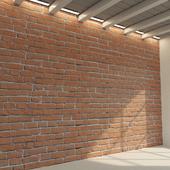 Brick wall. Old brick. 78