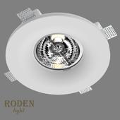 OM Врезной гипсовый светильник RODEN-light RD-254 AR-111