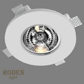 OM Врезной гипсовый светильник RODEN-light RD-255 AR-111