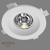 OM Врезной гипсовый светильник RODEN-light RD-256 AR-111