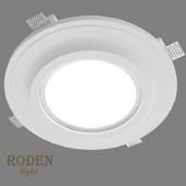 OM Врезной гипсовый светильник RODEN-light RD-261