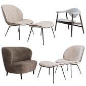 Gubi Lounge Chairs