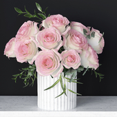 A bouquet of flowers in a vase 33