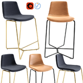 Slope Upholstered Counter Stools