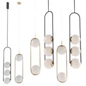A set of chandeliers Tel Aviv HOOP DUO