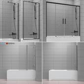 Шторки для ванн и ванны Ravak and Radaway set 44