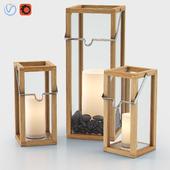 Crosby Lanterns with Pillar Candles