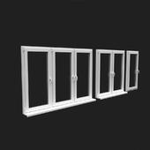 PVC windows with standard windowsill