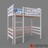 Кроватка детская Чердак