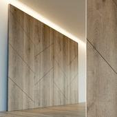 Декоративная стена. Стеновая панель из дерева. 1