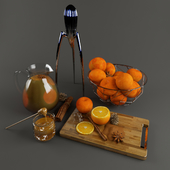 Orange decoration set