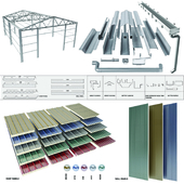 sloped roof-sandwich panel