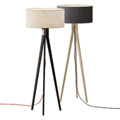 Folk Tripod Floor Lamp
