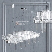 Chandelier AXO Light Spillray SP lamps 26 clear glass