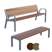 Park bench MMCITE Miela