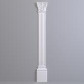 Pilaster Europlast. Capital: 1.21.002, Barrel: 1.22.020, Base: 1.23.200