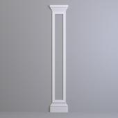Pilaster Europlast. Capital: 1.21.005, Molding: 1.51.307, Base: 1.23.500