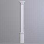 Pilaster Europlast. Capital: 1.21.007, Barrel: 1.22.030, Base: 1.23.300