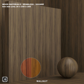Material wood / tree, walnut (seamless) - set 68