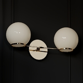 O&g Contrapesso Led Double Sconce