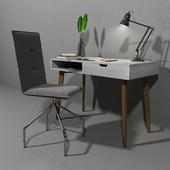 Set scandinavian desk