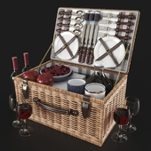 NEWBURY picnic basket decor set | Newbury Decorative Picnic Set