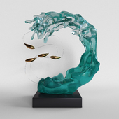 """Decor """"Wave and fish"""""""