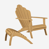 Adirondack footstool and chair