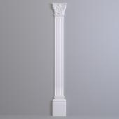 Pilaster Europlast. Capital: 1.21.002, Barrel: 1.22.200, Base: 1.23.200