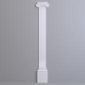 Pilaster Europlast. Capital: 1.21.006, Barrel: 1.22.200, Base: 1.23.200