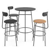 Afteroom bar chair + table by MENU