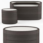 Bedside table and chest of drawers POLIFORM I KELLY Emmanuel Gallina 2019