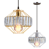Lighting and Interiors - Nova Fitted Pendant Lamp (gold/silver)