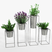 Farmhouse Galvanized Planters