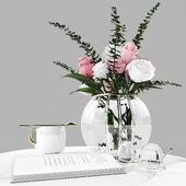 Decorative set rose